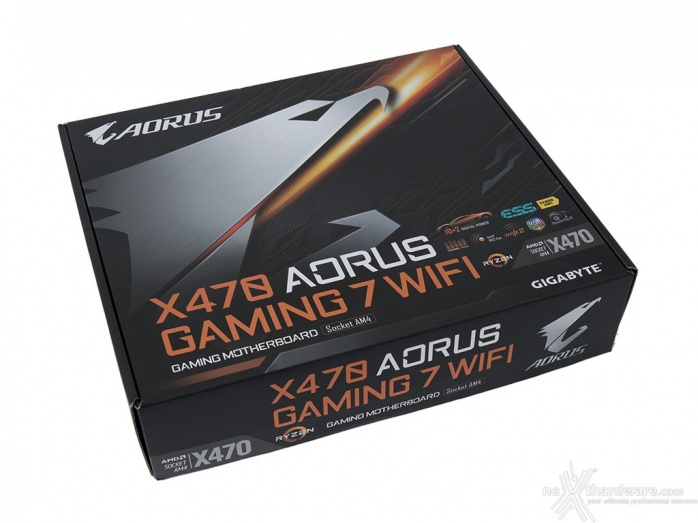 GIGABYTE X470 AORUS Gaming 7 WIFI 3. Packaging & Bundle 1