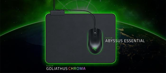 Razer Abyssus Essential & Goliathus Chroma 1
