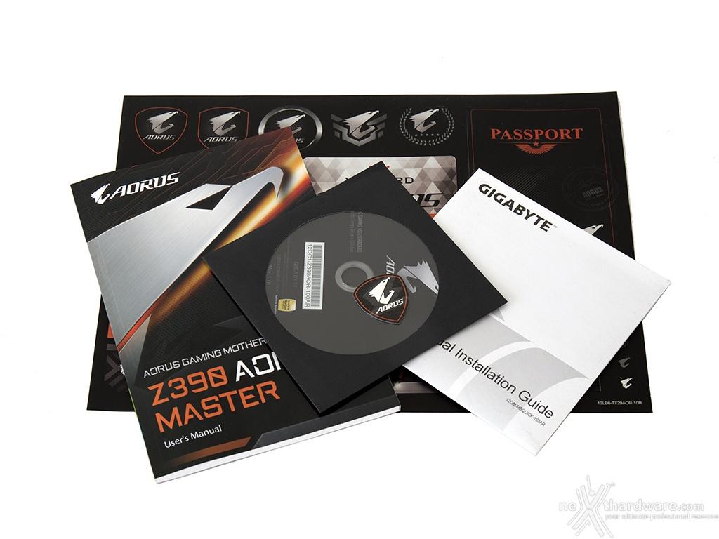 GIGABYTE Z390 AORUS MASTER | 2  Packaging & Bundle | Recensione