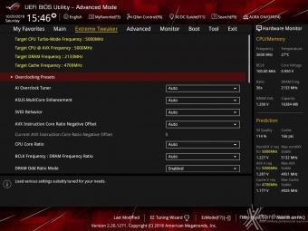 ASUS ROG MAXIMUS XI HERO (WI-FI) 8. UEFI BIOS - Extreme Tweaker 1