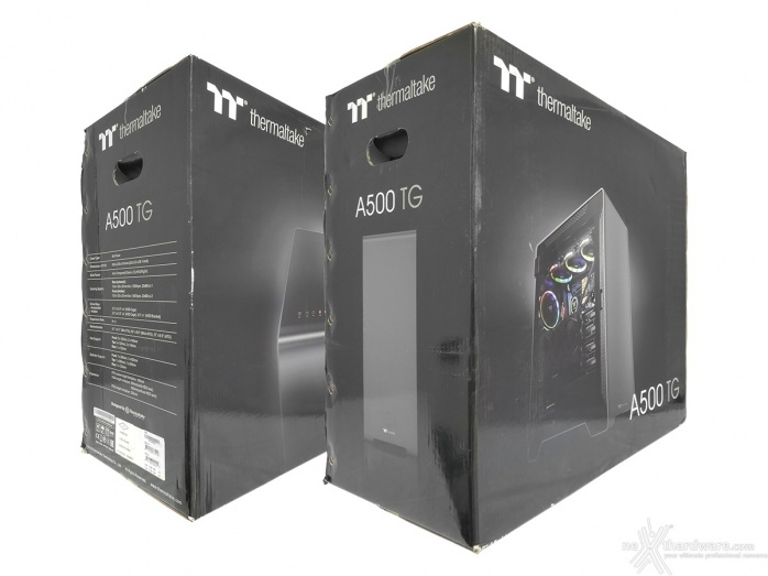 Thermaltake A500 Aluminum TG 1. Packaging & Bundle 1