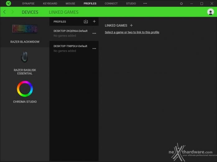 Il setup 2019 di fascia media firmato Razer 5. Razer Synapse 3 11