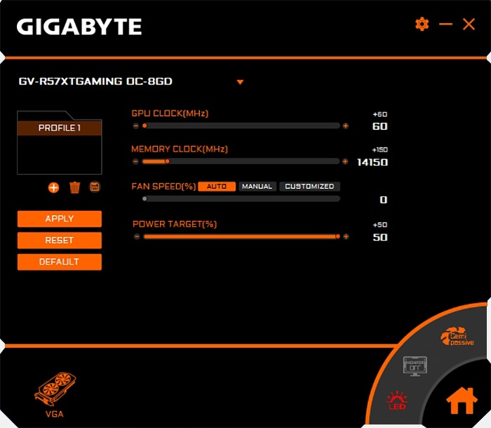 GIGABYTE Radeon RX 5700 XT GAMING OC 13. Overclock 3