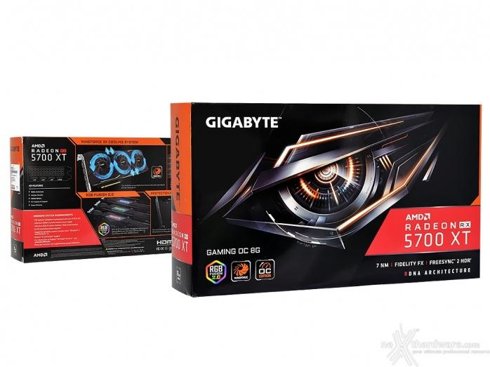 GIGABYTE Radeon RX 5700 XT GAMING OC 2. Packaging & Bundle 1