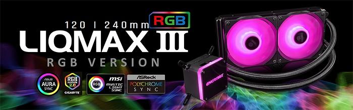 ENERMAX LIQMAX III RGB 120 & 240 1