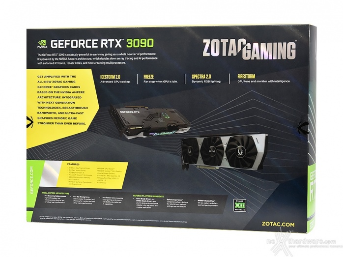 ZOTAC GeForce RTX 3090 Trinity 3. Packaging & Bundle 2