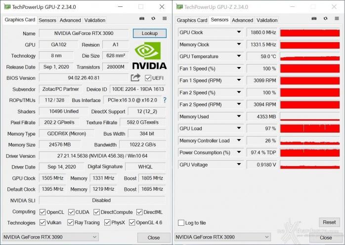 ZOTAC GeForce RTX 3090 Trinity 15. Overclock 4