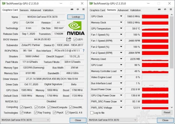 ZOTAC GeForce RTX 3070 Twin Edge 14. Overclock 4
