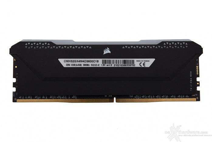 CORSAIR VENGEANCE RGB PRO SL 3600MHz 32GB 1. Presentazione delle memorie 6