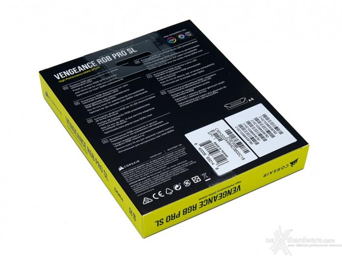 CORSAIR VENGEANCE RGB PRO SL 3600MHz 32GB 1. Presentazione delle memorie 2