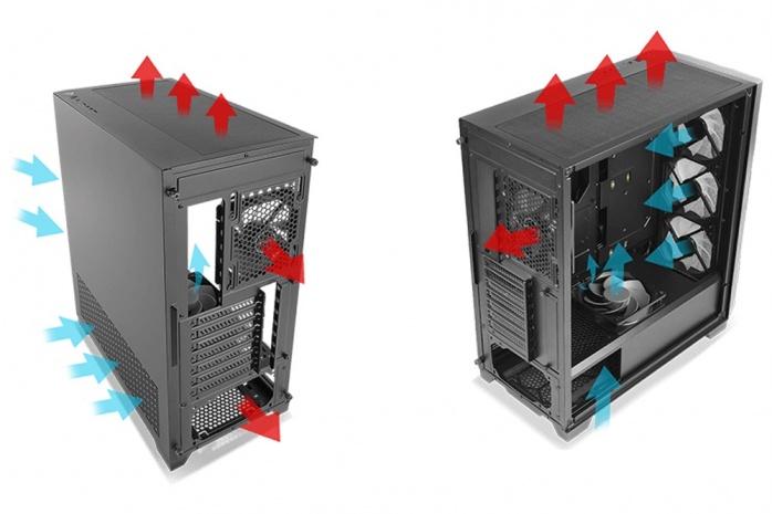 Antec DF700 Flux 4. Raffreddamento 1