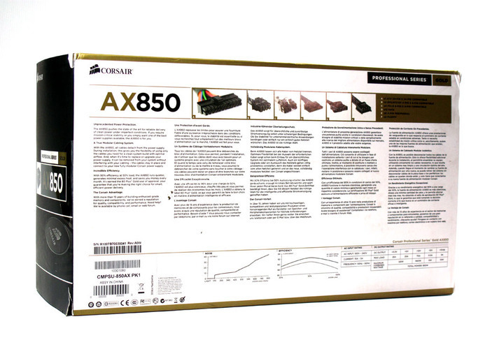Corsair AX-850 1. Box & Specifiche Tecniche 4