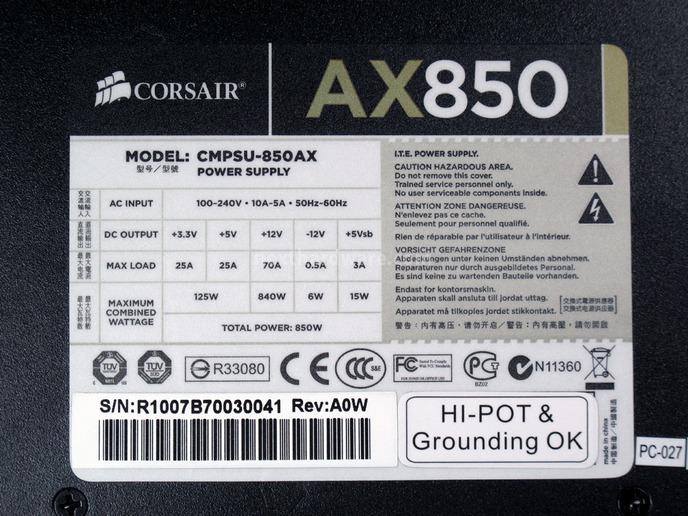 Corsair AX-850 2. Visto da vicino 9
