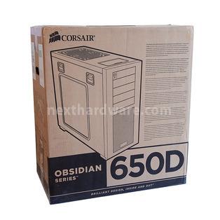Corsair Obsidian 650D : la classe non è acqua 1. Packaging & Bundle 1