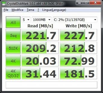 Corsair Accelerator 30GB 7. CrystalDiskMark 2
