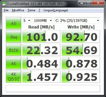 Corsair Accelerator 30GB 7. CrystalDiskMark 1