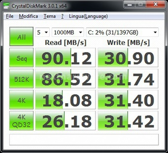 Corsair Accelerator 30GB 7. CrystalDiskMark 6