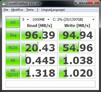 Corsair Accelerator 30GB 7. CrystalDiskMark 5