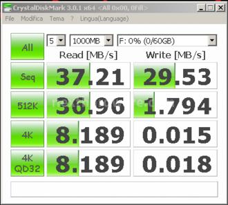 Corsair Flash Voyager GT USB 3.0 64GB 10. CrystalDiskMark 2