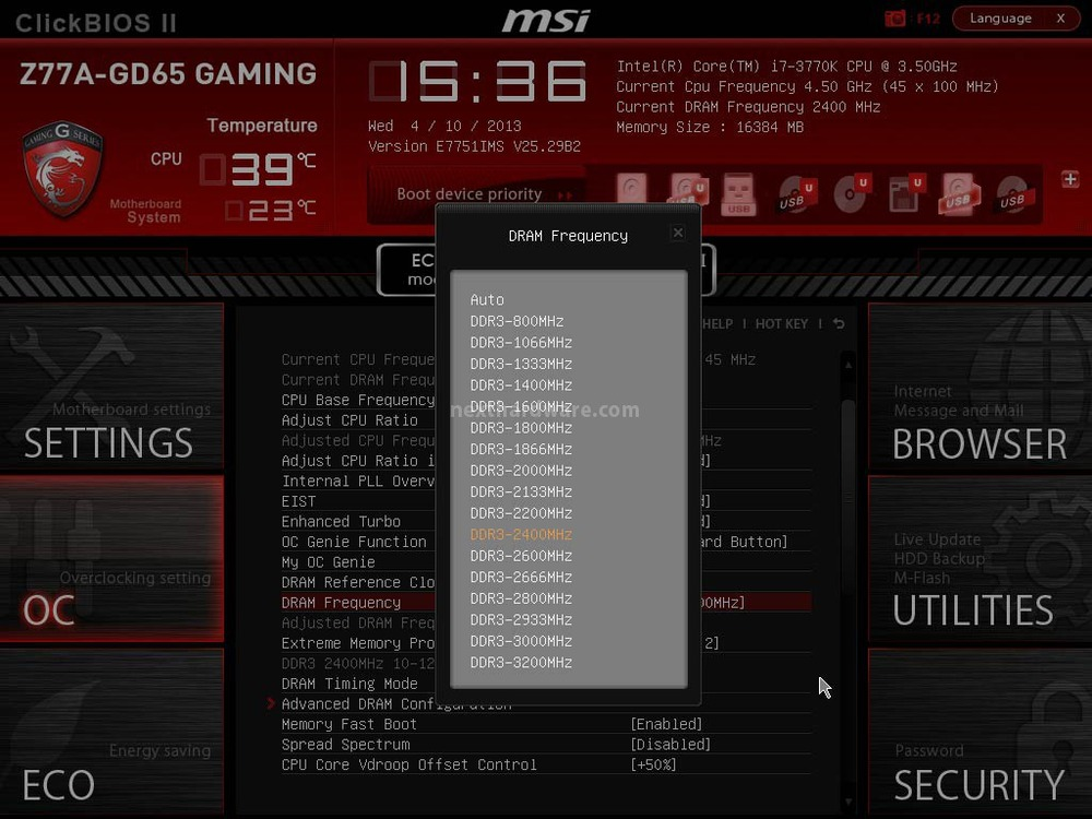 Msi z77a gd65 gaming 5 click bios ii parte prima for Divisori di 77