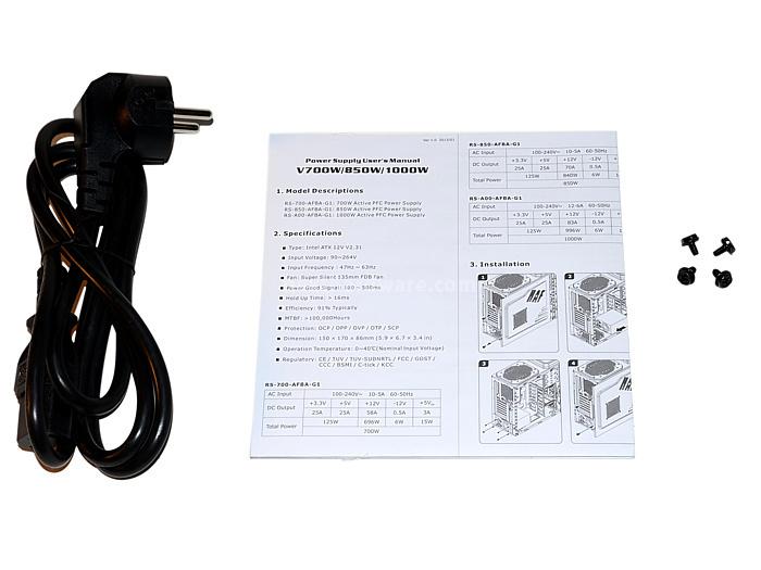 Cooler Master V1000 80Plus Gold 1. Confezione & Specifiche Tecniche 8