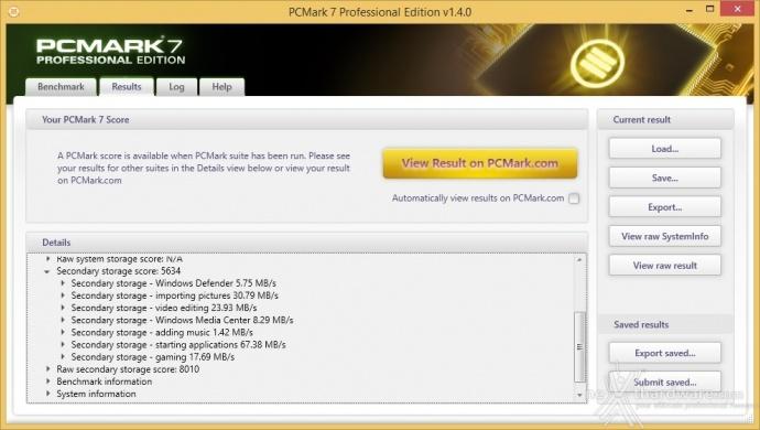 Samsung 850 PRO 512GB 15. PCMark  7 & PCMark 8 1