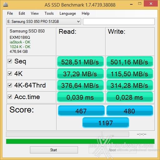 Samsung 850 PRO 512GB 12. AS SSD Benchmark 3