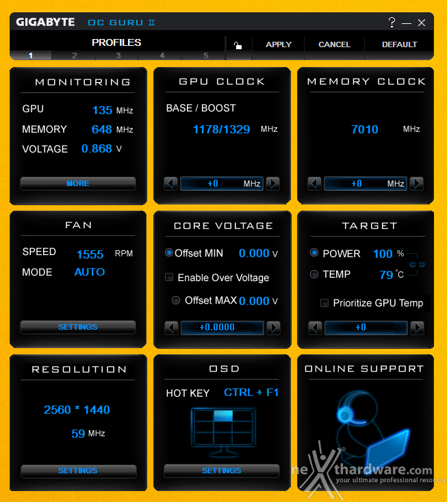 GIGABYTE GTX 970 G1 Gaming 11. Overclock 1