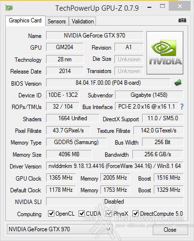GIGABYTE GTX 970 G1 Gaming 11. Overclock 2