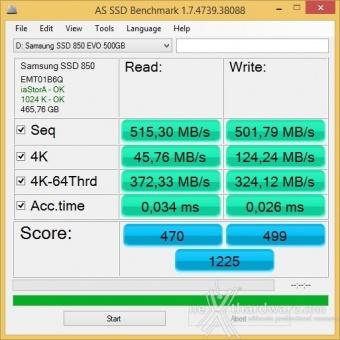 Samsung 850 EVO 500GB 17. Test in modalità RAPID 1